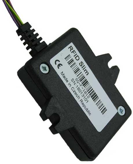 Čtečka je určena pro čtení tagů (karet) bezkontaktní identifikace, pracující na kmitočtu 125 kHz.