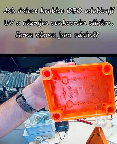 Jak krabice OBO odolávají UV a vnějším vlivům?