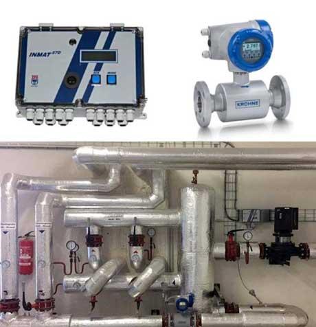 Měření tepla a chladu předaného směsí vody a glykolu v obchodním styku