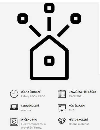 Školení inteligentní domovní elektroinstalace ABB-free@home 24. února 2020!