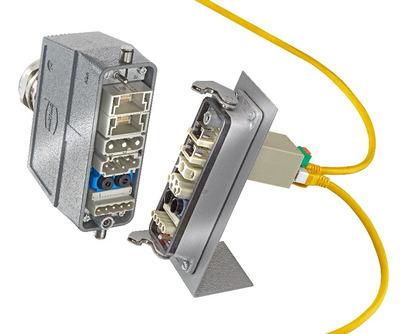TIP na průmyslový konektor Han-Modular s ethernetovým přepínačem