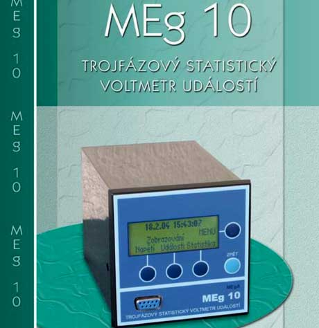 Trojfázový statistický voltmetr událostí MEg 10