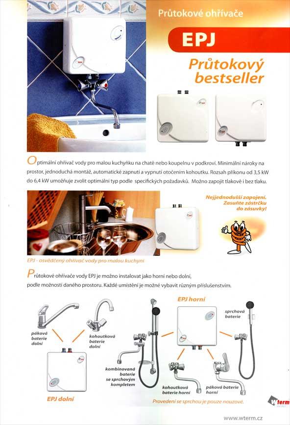 Elektrické připojení pro ohřívač vody